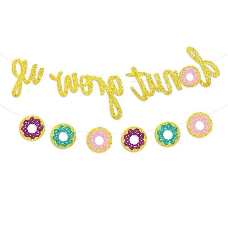 Donut Up Kids Birthday Party Decorations Paper Garland Banner