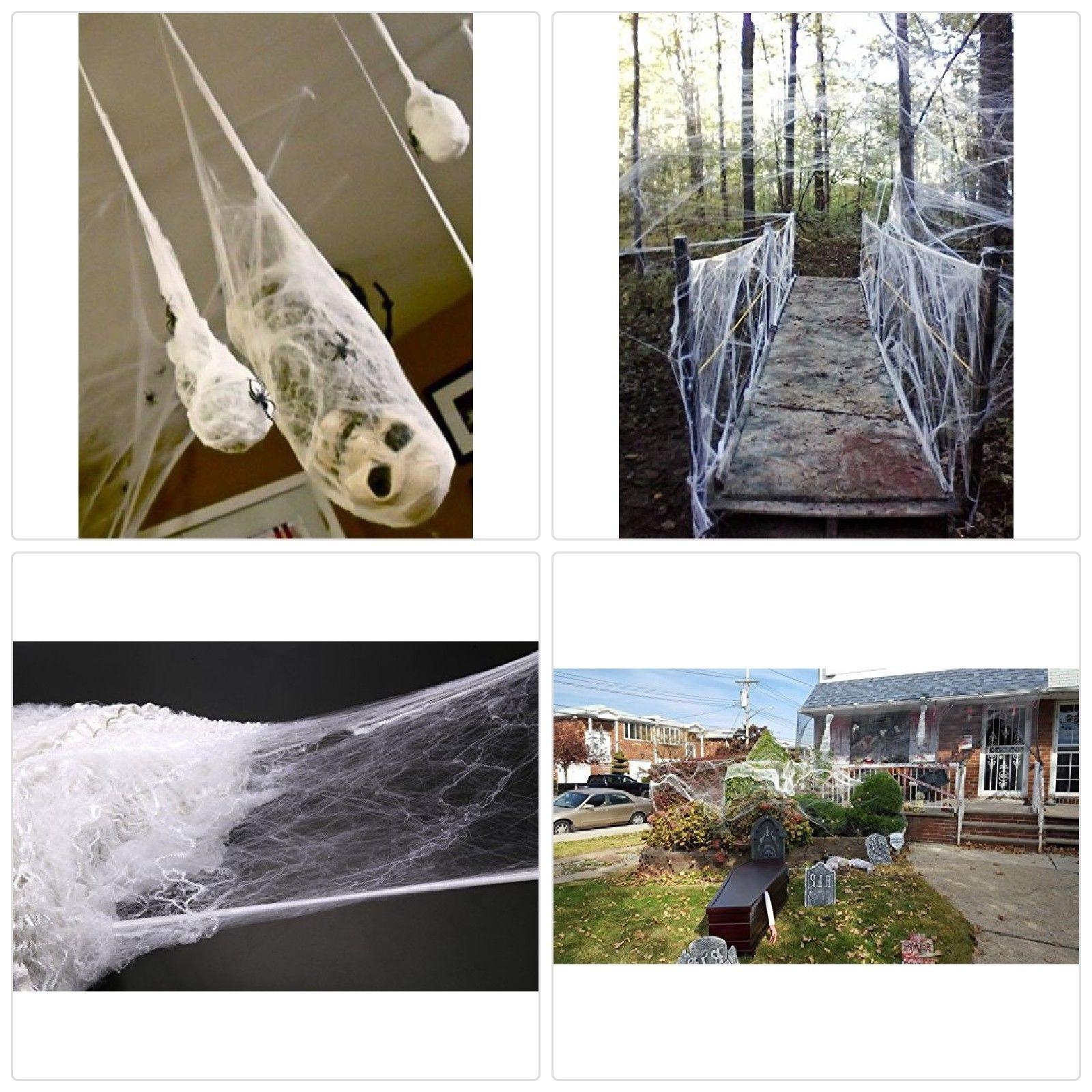 Moon Boat Fake Spider Web Halloween Party Decorations Props