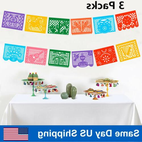fiesta party banner large plastic mexican papel