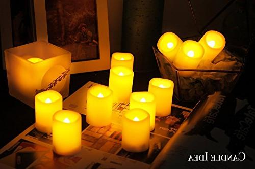 Flameless Votive Tea Lights Fake Candles/Flickering for