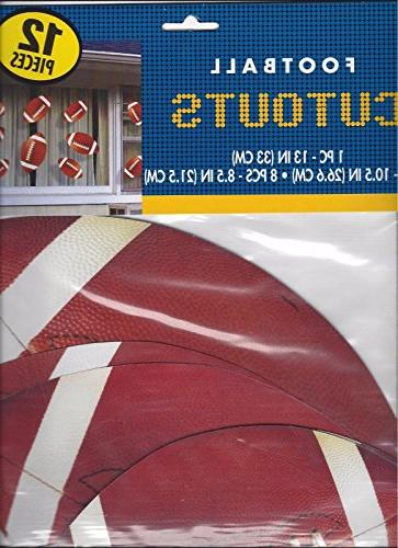 Football Assorted Cutouts Wall Decoration, Paper, Pack