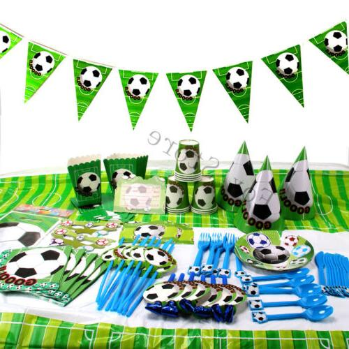 football soccer kids birthday party tableware