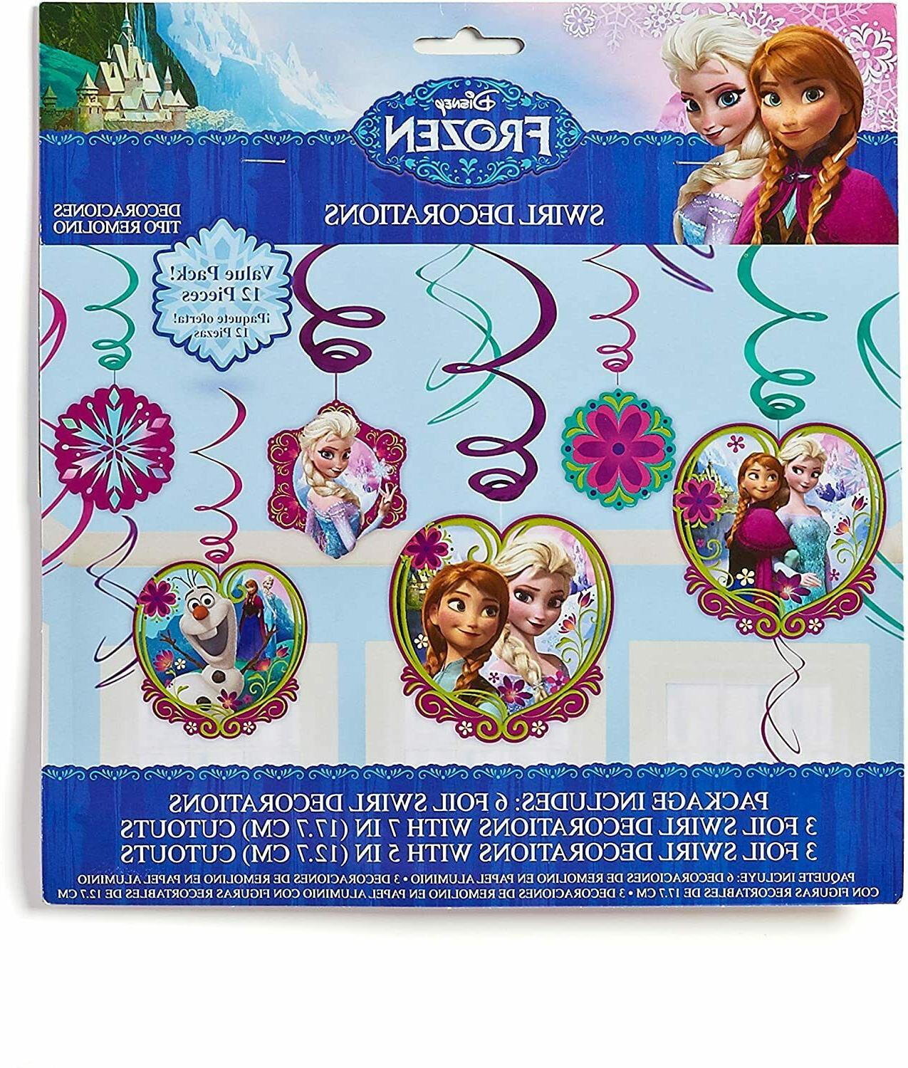 frozen hanging party decorations value pack 12ct