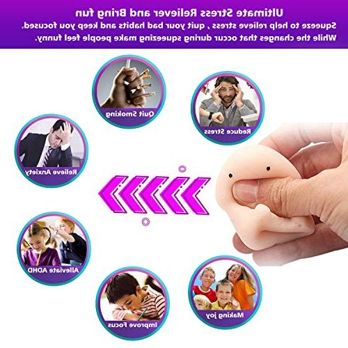 QOURY Squishies 3PCS,Novelty Squishy Super Soft Rising Stress Squeeze Stretch Squishy Valentine's Day Gag
