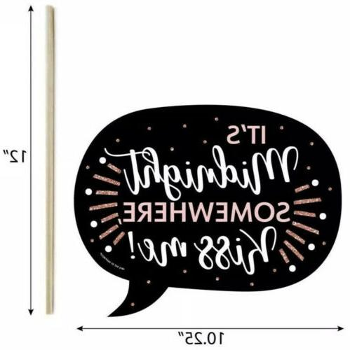 Big Dot Funny Rose New Year 10 Items BRAND