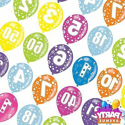 Generic Assorted Colour Latex Age Birthday Balloons Event Pa