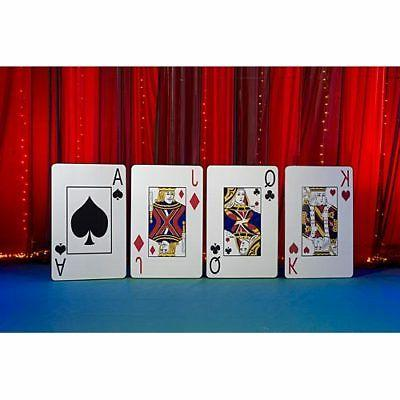 giant playing card cutout party props by