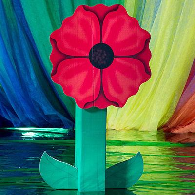giant poppy standee flower party prop by