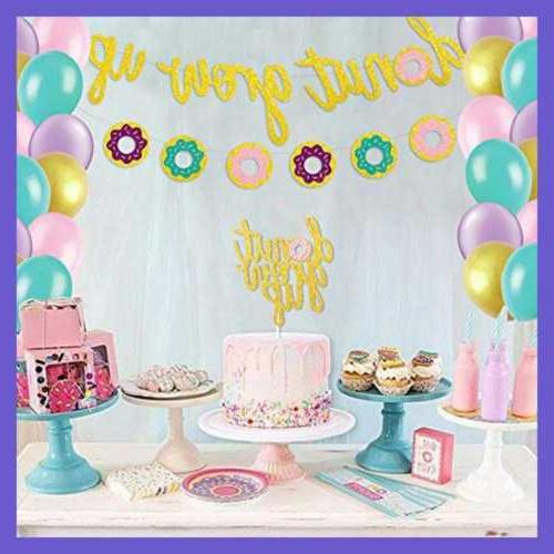 Glitter Set Up Banner Cake Event De