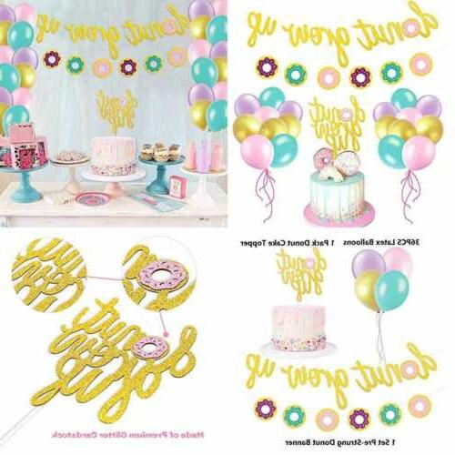 glitter donut party favors set grow up