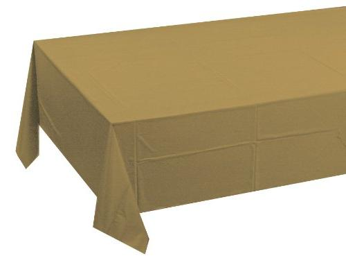 glittering plastic tablecover solid
