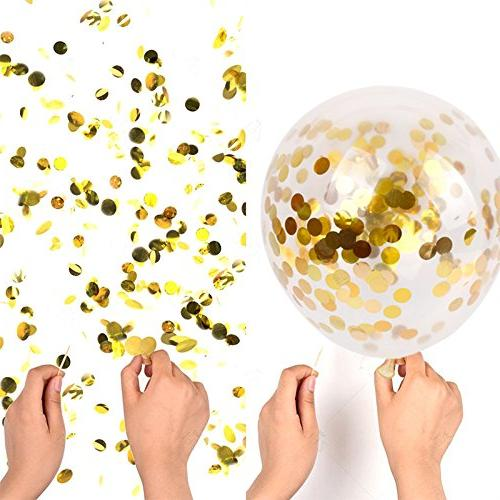 SINKSONS Confetti Balloons, Party Balloons Paper Confetti Dots Party Wedding And