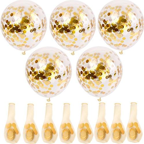 SINKSONS Gold Confetti Party With Paper Confetti Party Decorations And