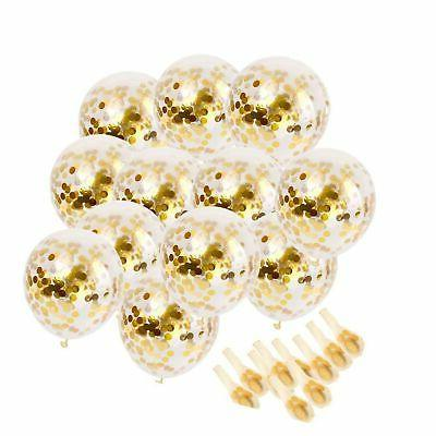gold confetti party balloons