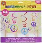 Amscan Groovy 60's Party Peace Sign Swirl Decorations Value