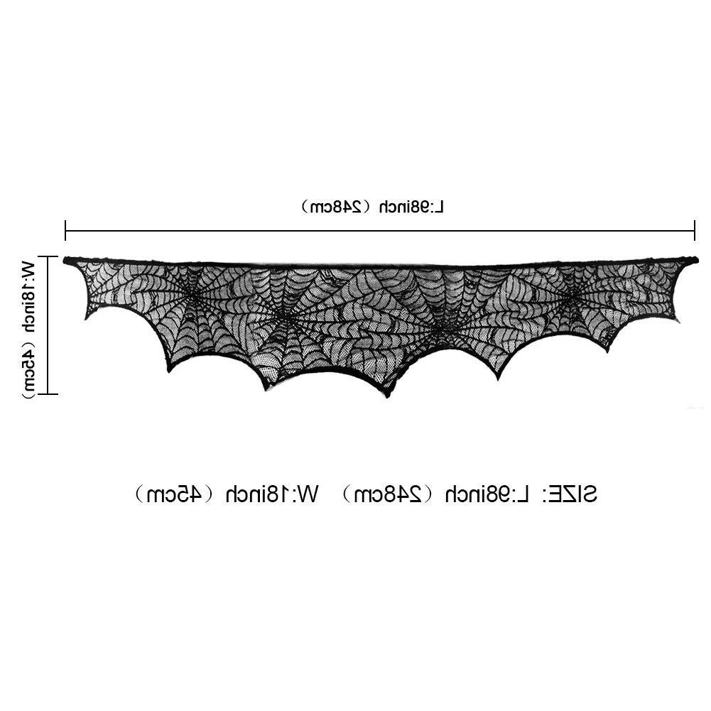 Halloween Lace Fireplace Mantle Scarf Cover
