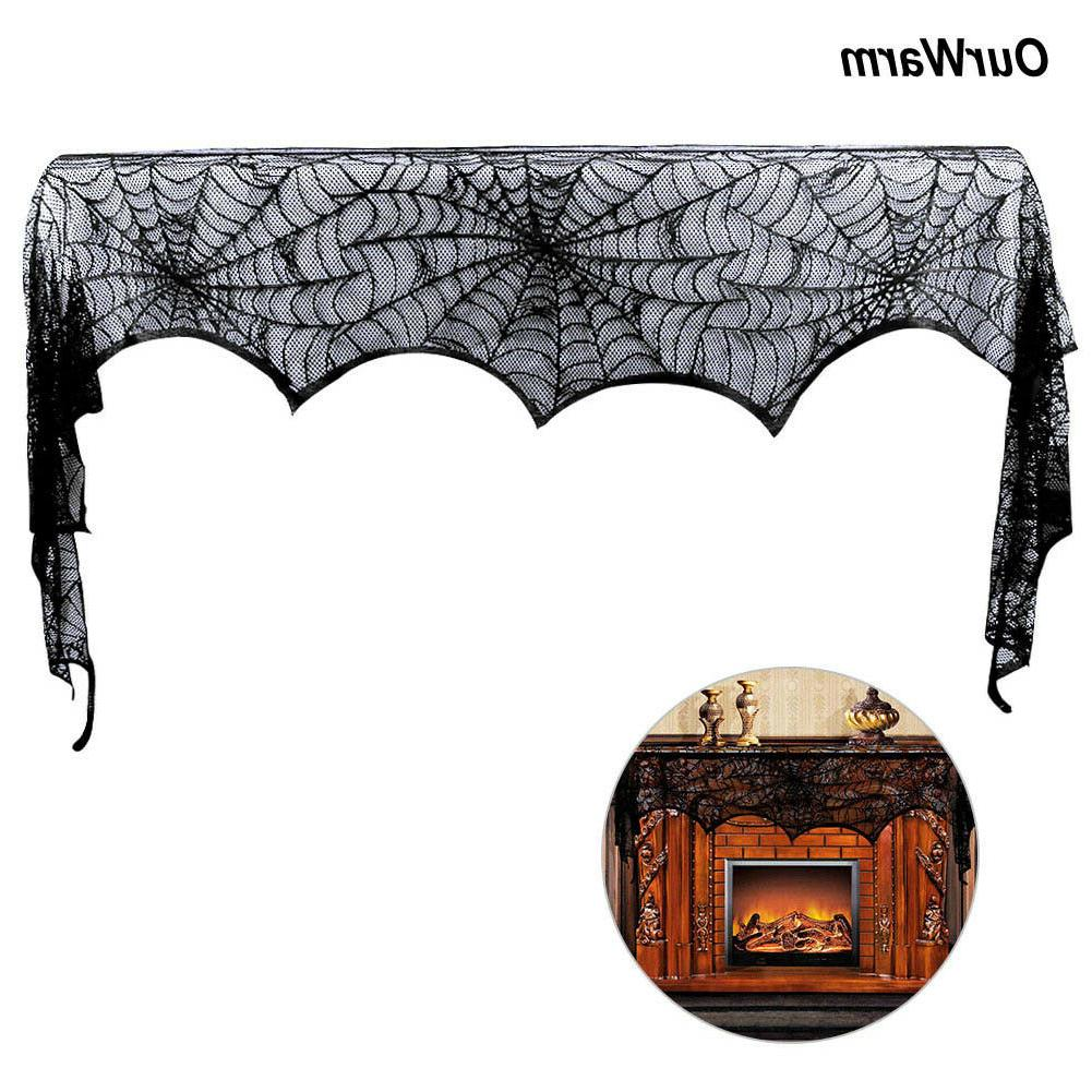 Halloween Props Lace Spiderweb Scarf Cover