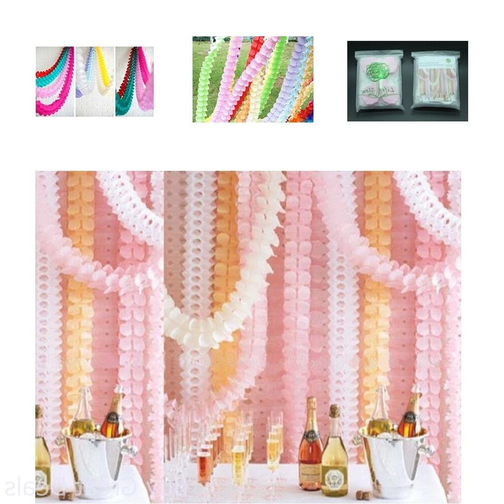 Hanging Garland Four-Leaf Tissue Paper Flower Garland Reusab
