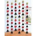 hanging string casino birthday party wedding decoration