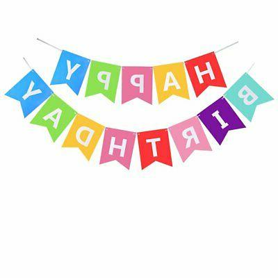 Happy Decoration Banner With Tissue For Birthday