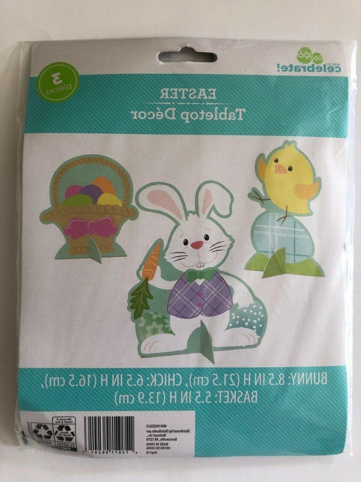 happy easter table top decor cardboard center