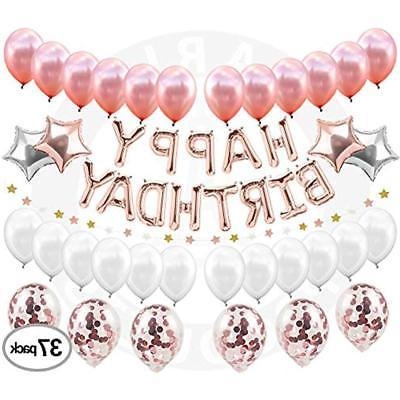 Happy GrownUp Girl Decorations (37 Set Includes Gold &