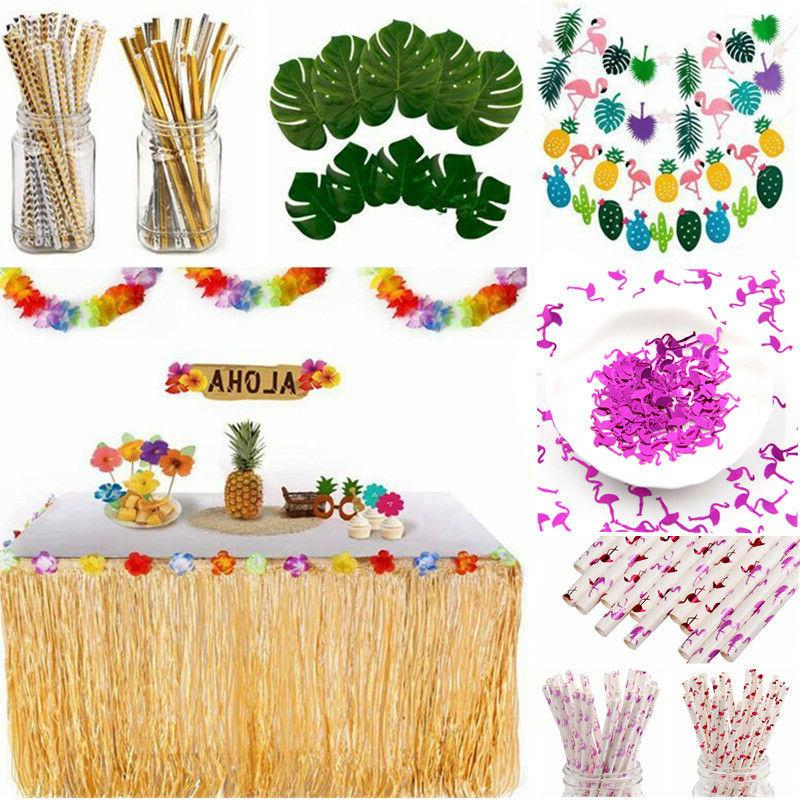 Hawaiian Tropical Summer Beach Party Set Supply Hanging Deco
