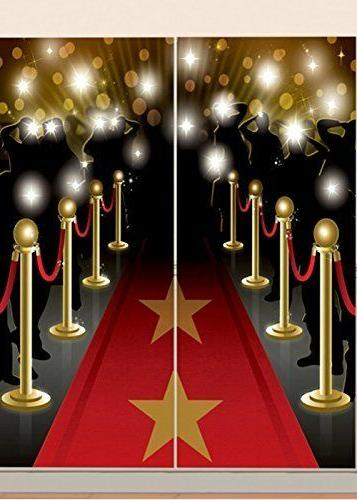 HOLLYWOOD MOVIE Scene Setter WaLL Backdrop Party Room Decora