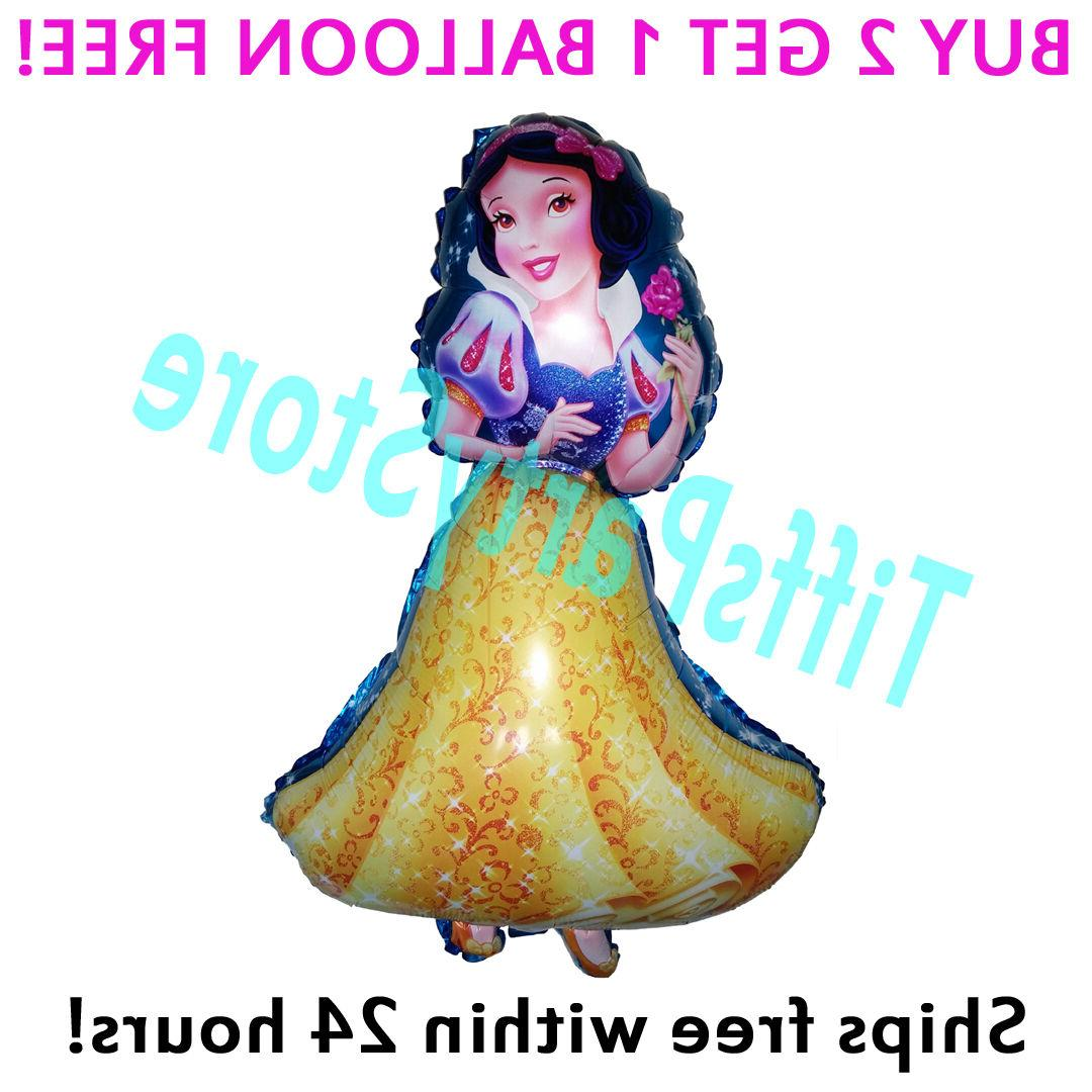 HUGE 2-Sided Snow White Mylar Balloon Birthday Party Supplie