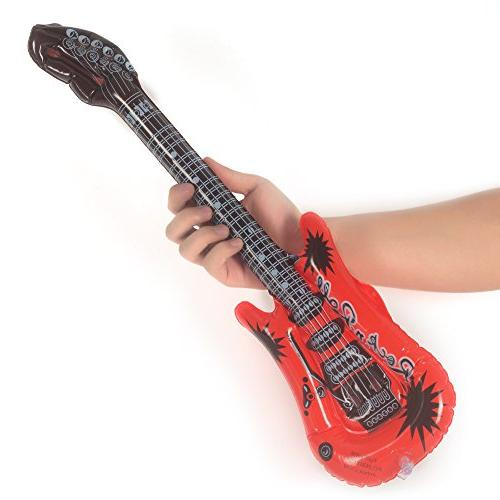 Fun Central Packs, 22 Inches Inflatable Rock Electric Guitars, Inflatable Toys, Inflatable Guitar for Kids, Blow Guitar, Kids Party
