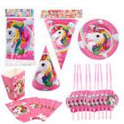 Kids Unicorn Theme Birthday Party Supply Serveware Favor Tab