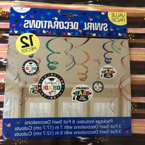Lot 4 Party Decorations Greetings Banner Confetti