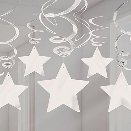 Amscan Stars Hanging Swirls | of 30 Party Decor