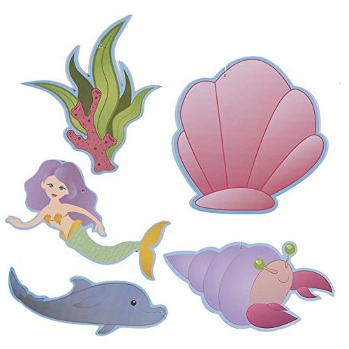 30-Count Ocean Fantasy Birthday - for Kids, Swirl in Pink, Blue,