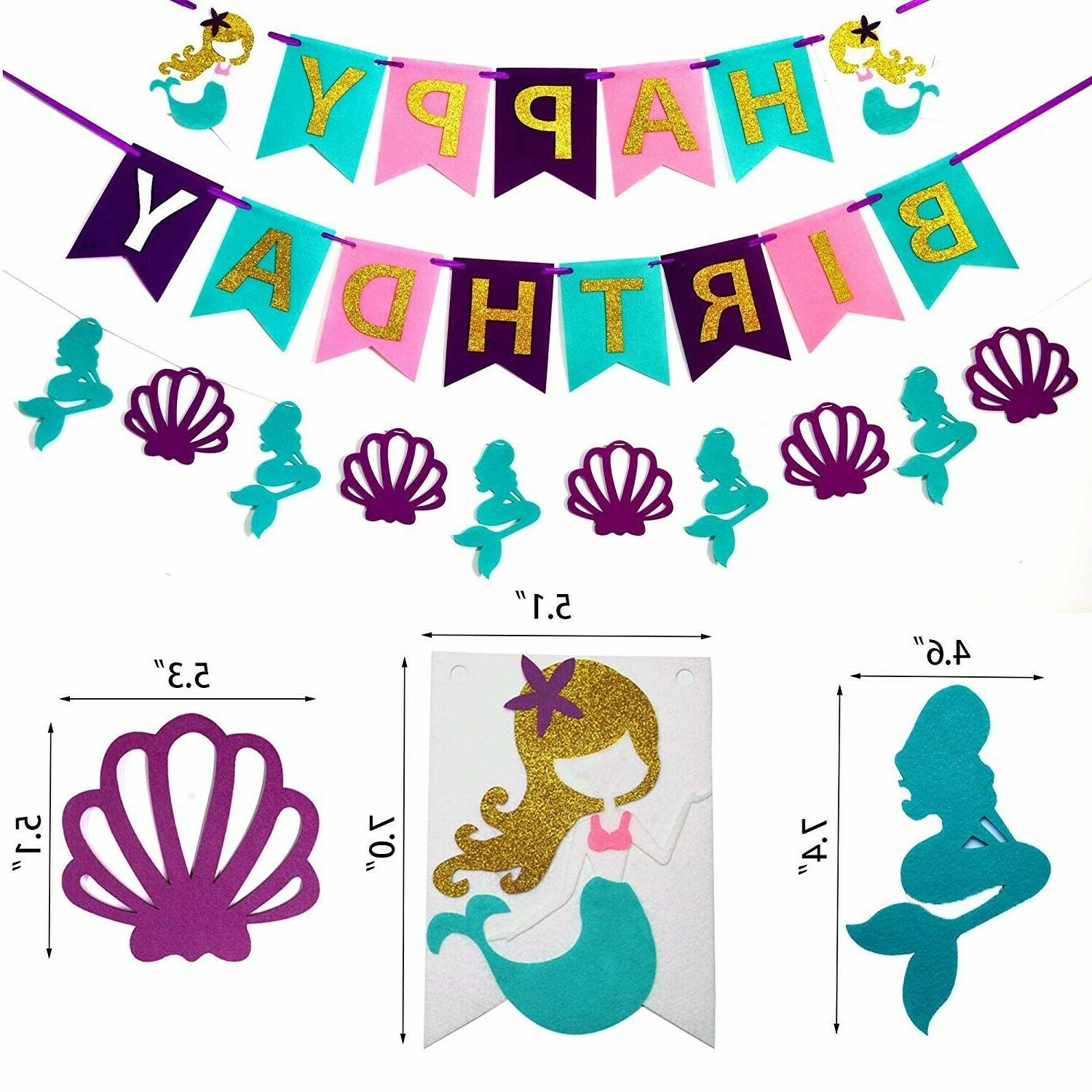 Mermaid Birthday Decorations and