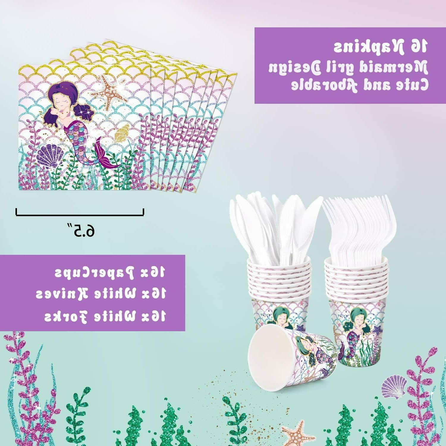 Threemart Favor Kit-Mermaid Birthday