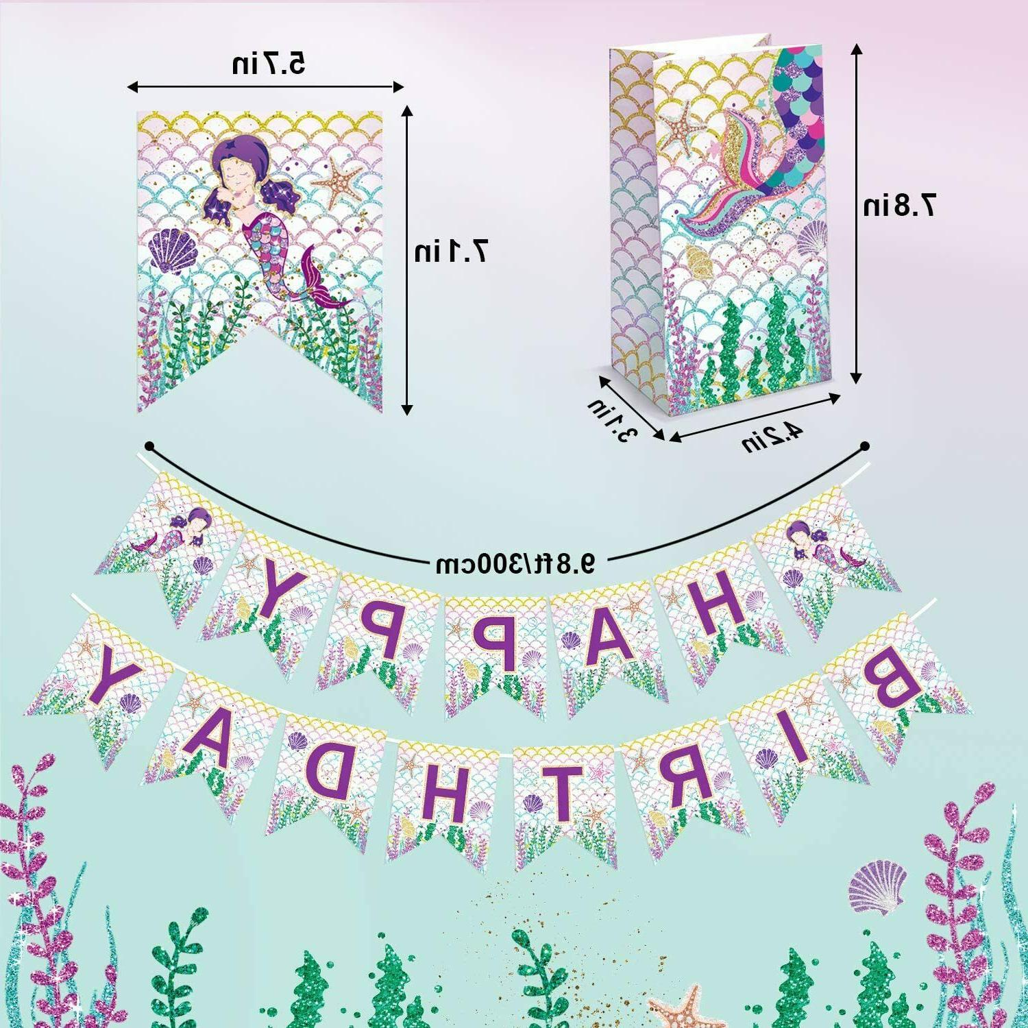 Threemart Mermaid Favor Kit-Mermaid For