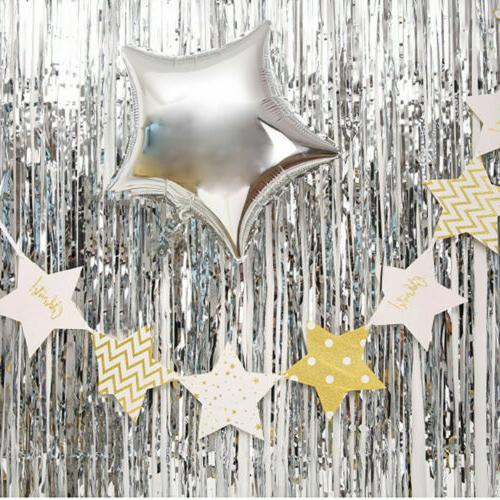 2M-3M Curtain Tinsel Backdrop Party