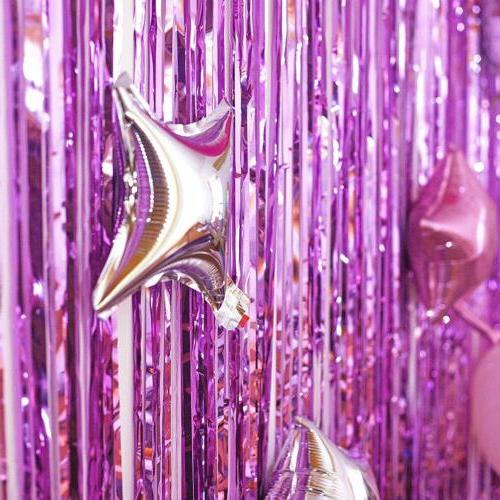 Metallic Foil Curtain Tinsel Birthday