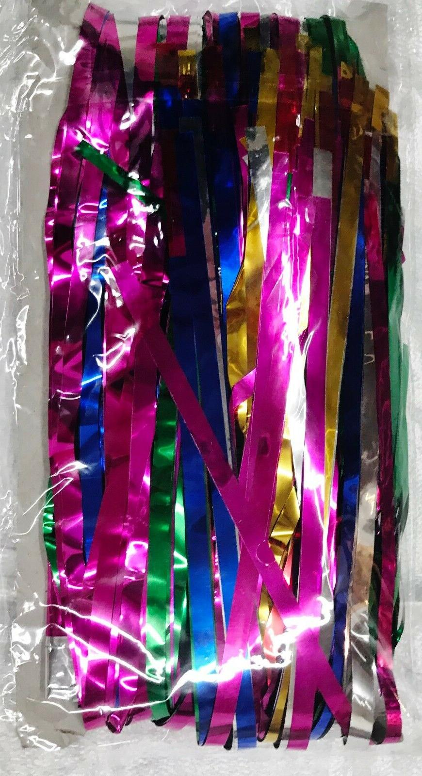 metallic silver gold green pink party decoration