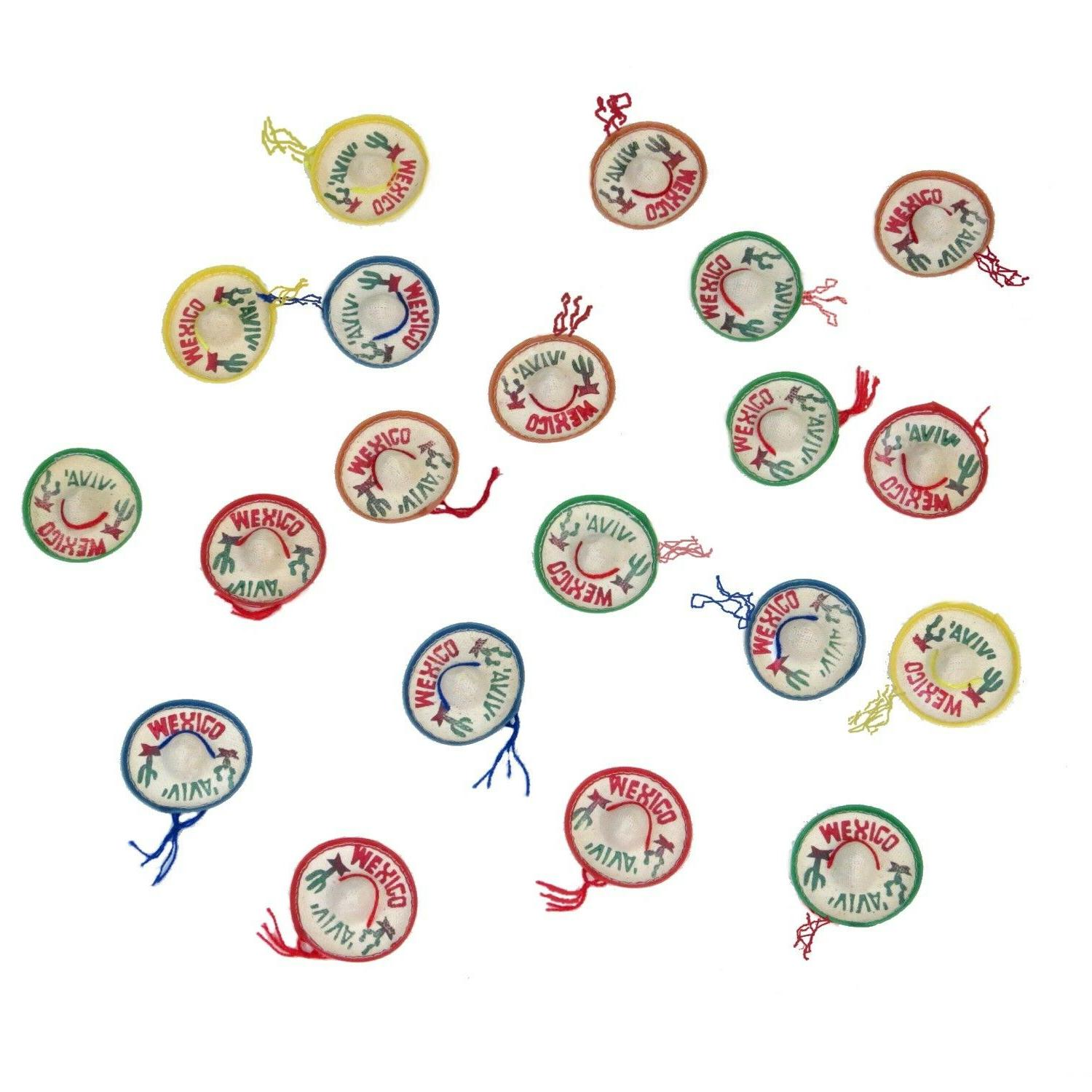 Mexican Fiesta Confetti Decoration 20 pack Assorted Colors