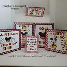 "Disney Mickey Mouse ""5""  Piece STAND UP Cardstock Signs Set"