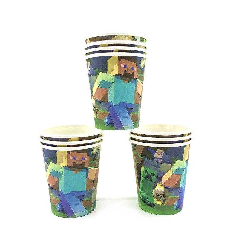 Minecraft Tablecloth Cup Set