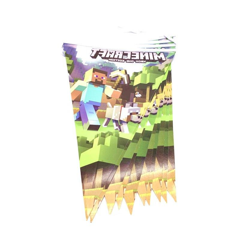 Minecraft Cartoon Tablecloth Baby Shower Cup Set