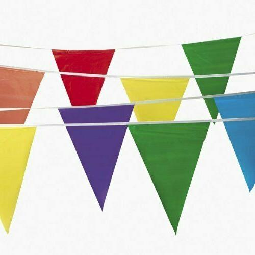 Multicolor Flags Pennants 100 ft Feet Carnival Circus Party