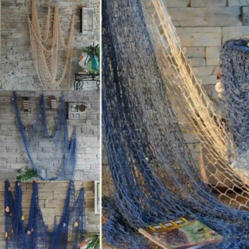 home decor fishing net seaside wall beach