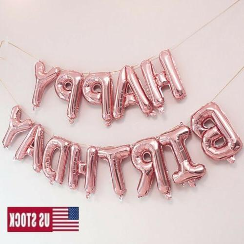 New Happy Self Inflating Banner Bunting Party Decor US