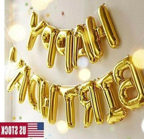 New Happy Inflating Balloon Banner Bunting Home Decor US