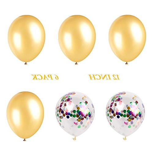 DRRE Balloon Gold inch Balloon Decoration for Birthday Party