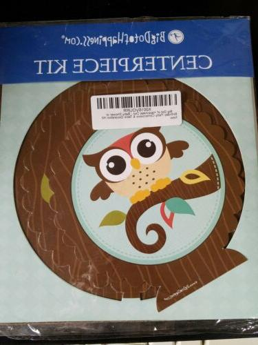owl baby shower party centerpiece table decoration